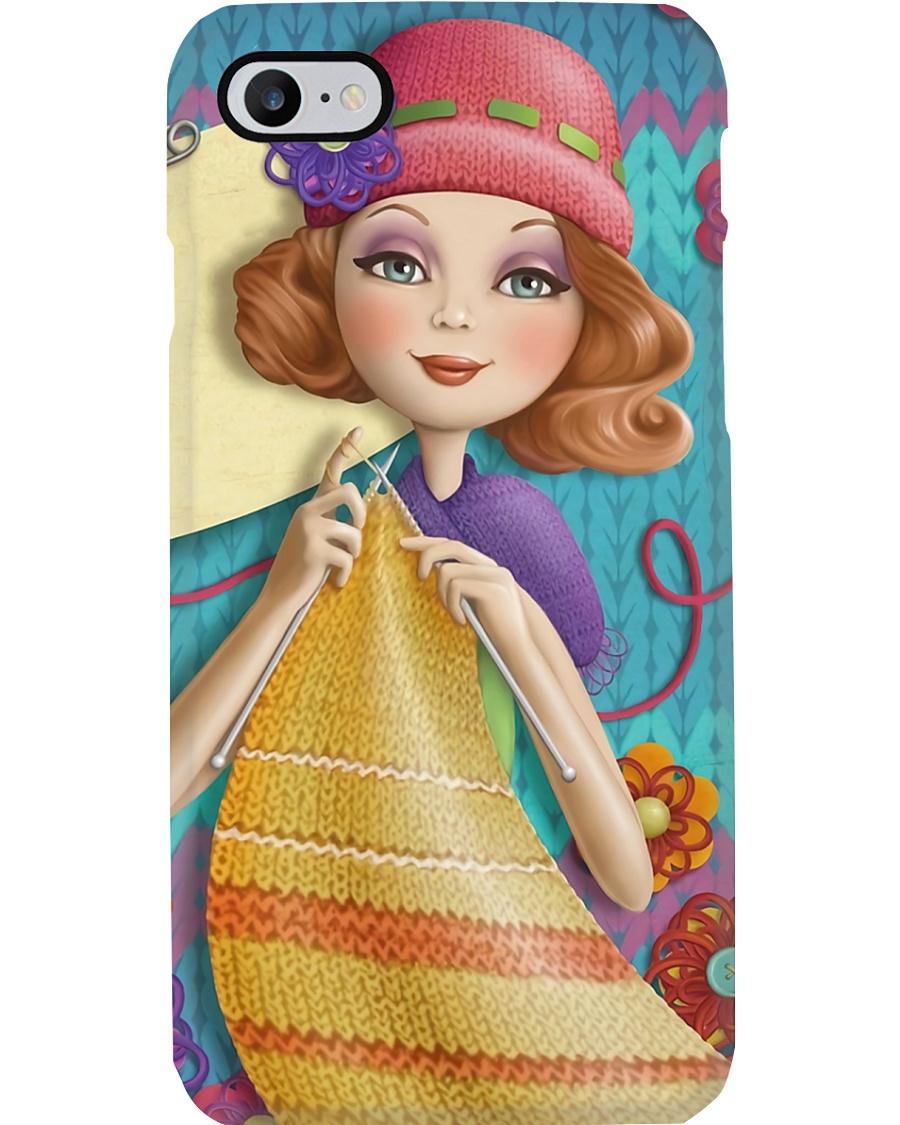 Crochet And Knitting Pretty Girl Phone Case