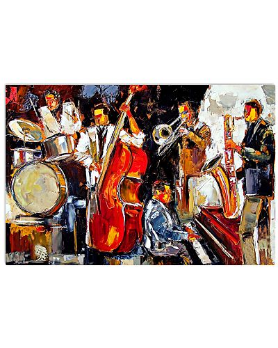 Saxophone Music Band Oil Art Painting