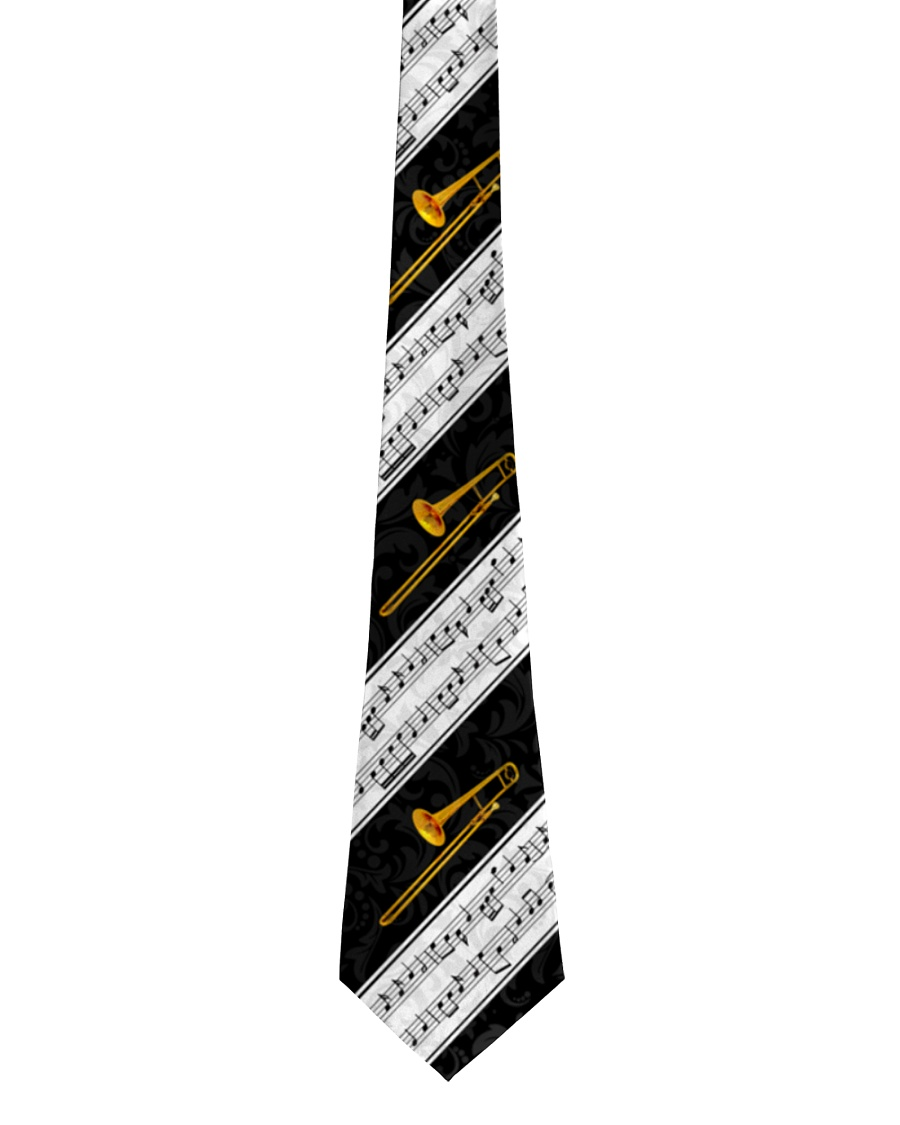 Trombonist Trombone And Music Notes Tie