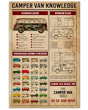 Camper Van Knowledge Camping  11x17 Poster front