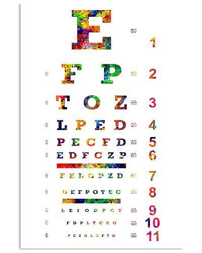 Watercolor Eye Chart Optometrist