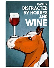 Horse Girl Easily Distracted By Horse And Wine 11x17 Poster front