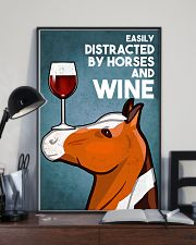 Horse Girl Easily Distracted By Horse And Wine 11x17 Poster lifestyle-poster-2