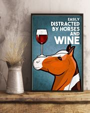 Horse Girl Easily Distracted By Horse And Wine 11x17 Poster lifestyle-poster-3