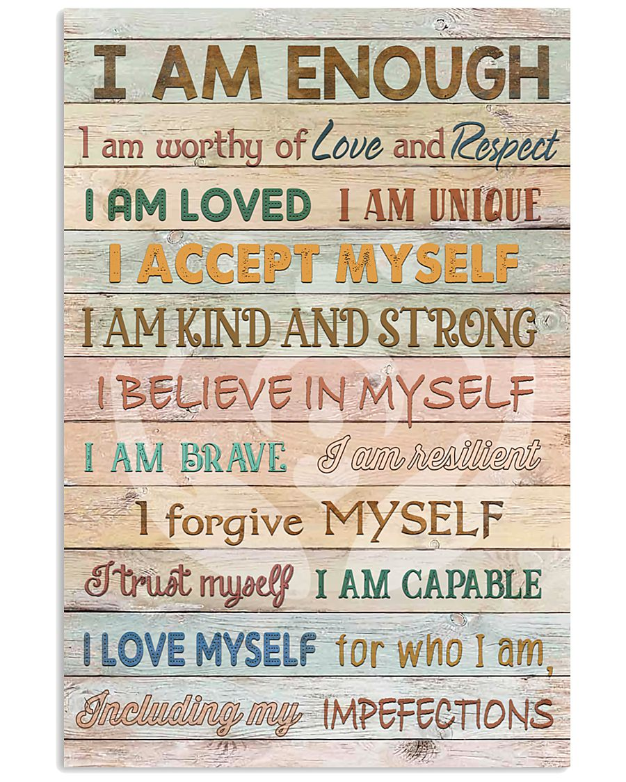 Social Worker I Am Enough 11x17 Poster