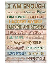 Social Worker I Am Enough 11x17 Poster front