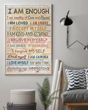 Social Worker I Am Enough 11x17 Poster lifestyle-poster-1