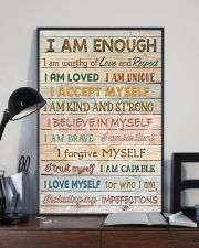 Social Worker I Am Enough 11x17 Poster lifestyle-poster-2