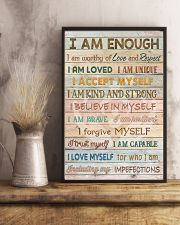 Social Worker I Am Enough 11x17 Poster lifestyle-poster-3