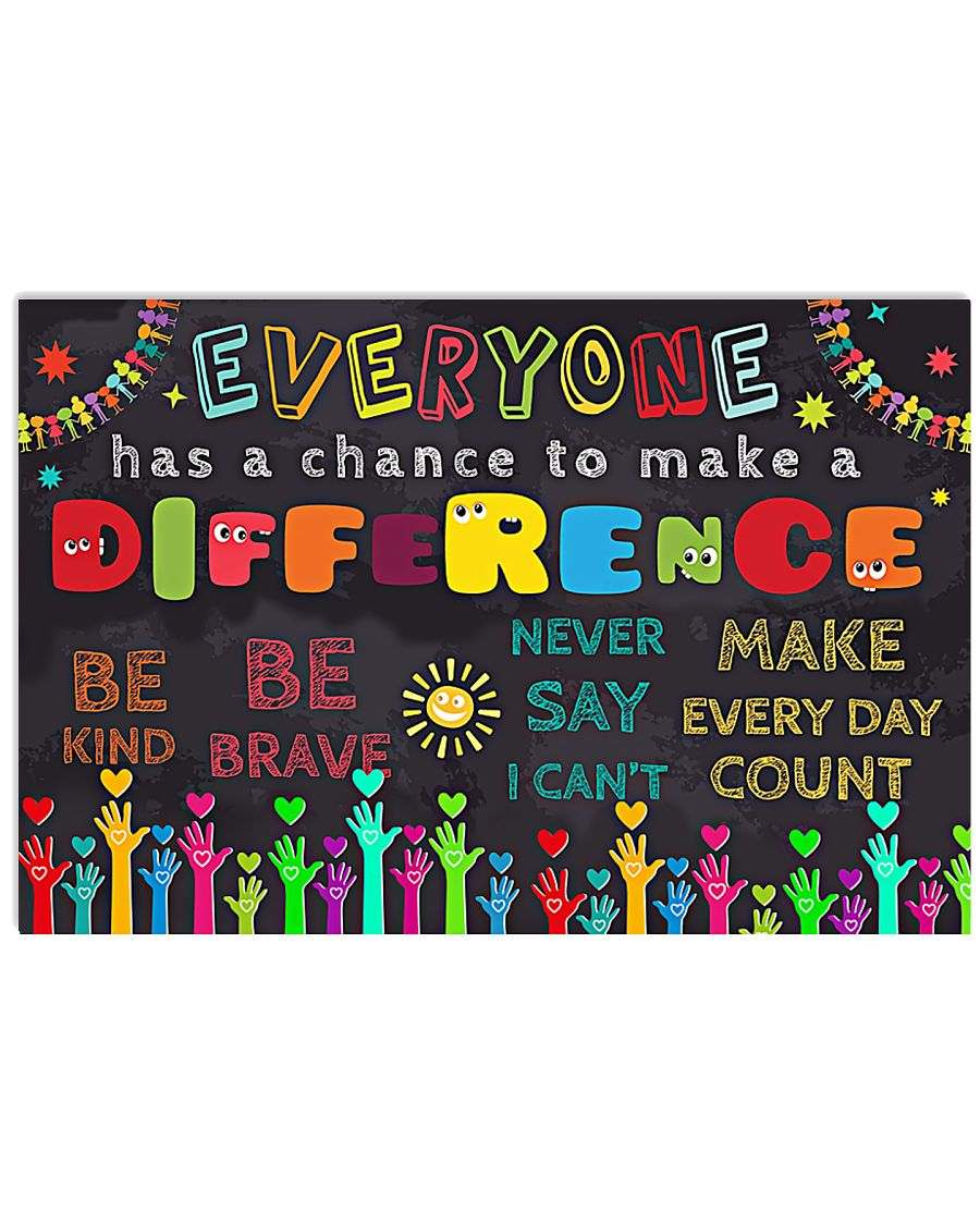 Everyone Has A Chance To Make A Difference 17x11 Poster