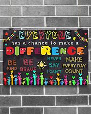 Everyone Has A Chance To Make A Difference 17x11 Poster poster-landscape-17x11-lifestyle-18
