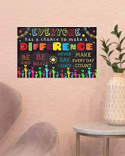 Everyone Has A Chance To Make A Difference 17x11 Poster poster-landscape-17x11-lifestyle-22