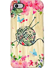 Crochet and Knitting Floral Yarn Phone Case i-phone-7-case