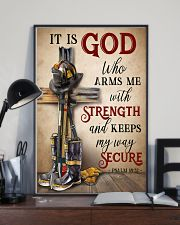 Firefighter It Is God Who Arms Me With Strength 11x17 Poster lifestyle-poster-2