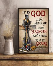 Firefighter It Is God Who Arms Me With Strength 11x17 Poster lifestyle-poster-3