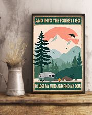 Camping Into The Forest 11x17 Poster lifestyle-poster-3