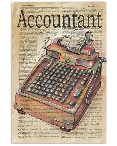 Accountant vintage poster