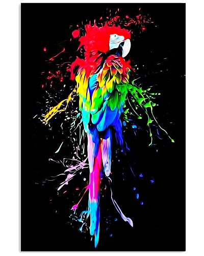 Parrot Water Colors Poster