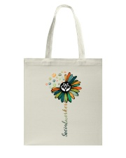 Social Worker Colorful Flower Tote Bag thumbnail