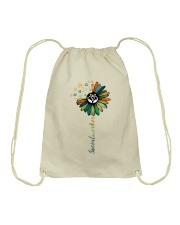 Social Worker Colorful Flower Drawstring Bag thumbnail