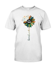 Social Worker Colorful Flower Classic T-Shirt thumbnail