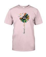 Social Worker Colorful Flower Premium Fit Mens Tee thumbnail