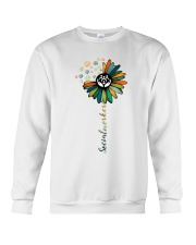 Social Worker Colorful Flower Crewneck Sweatshirt thumbnail