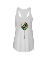 Social Worker Colorful Flower Ladies Flowy Tank thumbnail