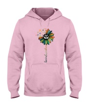 Social Worker Colorful Flower Hooded Sweatshirt thumbnail