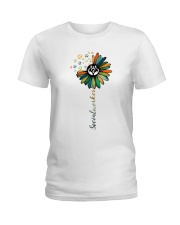 Social Worker Colorful Flower Ladies T-Shirt front