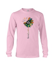 Social Worker Colorful Flower Long Sleeve Tee thumbnail