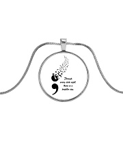 Brighter Day Suicide Prevention Metallic Circle Necklace front