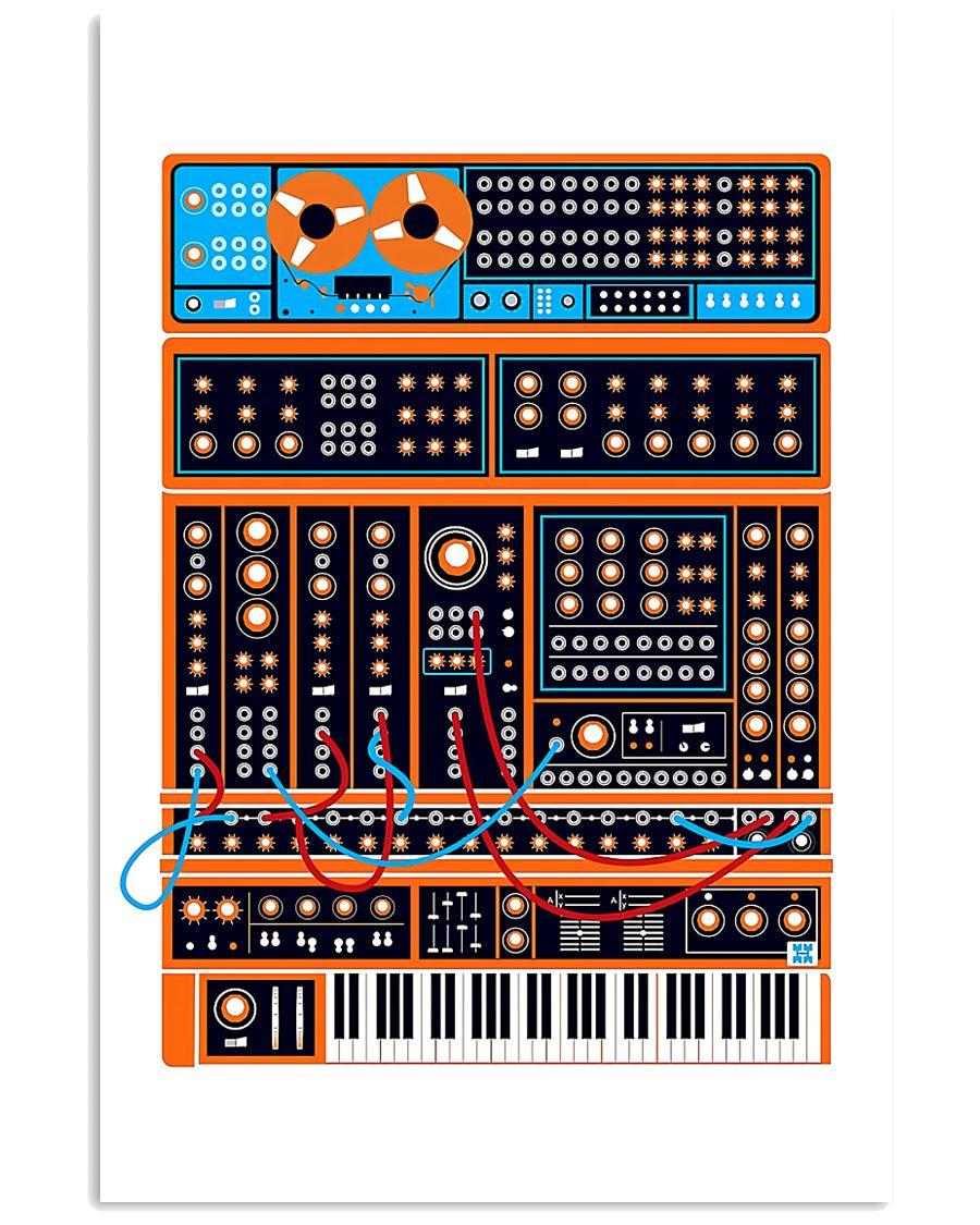 Orange Synthesizer Machine 11x17 Poster