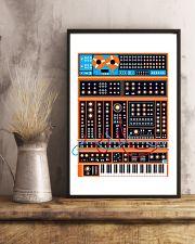 Orange Synthesizer Machine 11x17 Poster lifestyle-poster-3