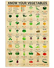 Registered Dietitian Know Your Vegetables 11x17 Poster front