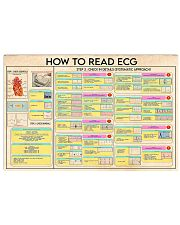 Cardiologist Read ECG 17x11 Poster front
