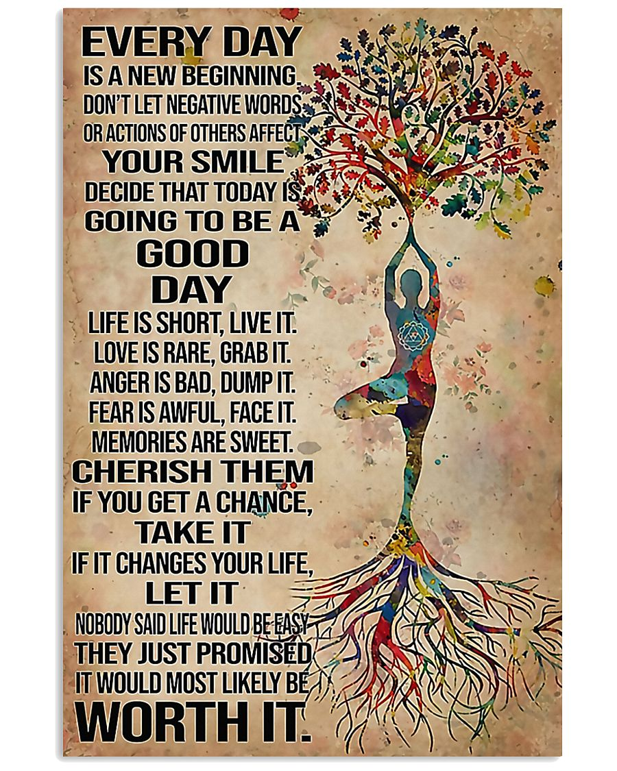 Yoga Every Day Is A New Beginning 11x17 Poster