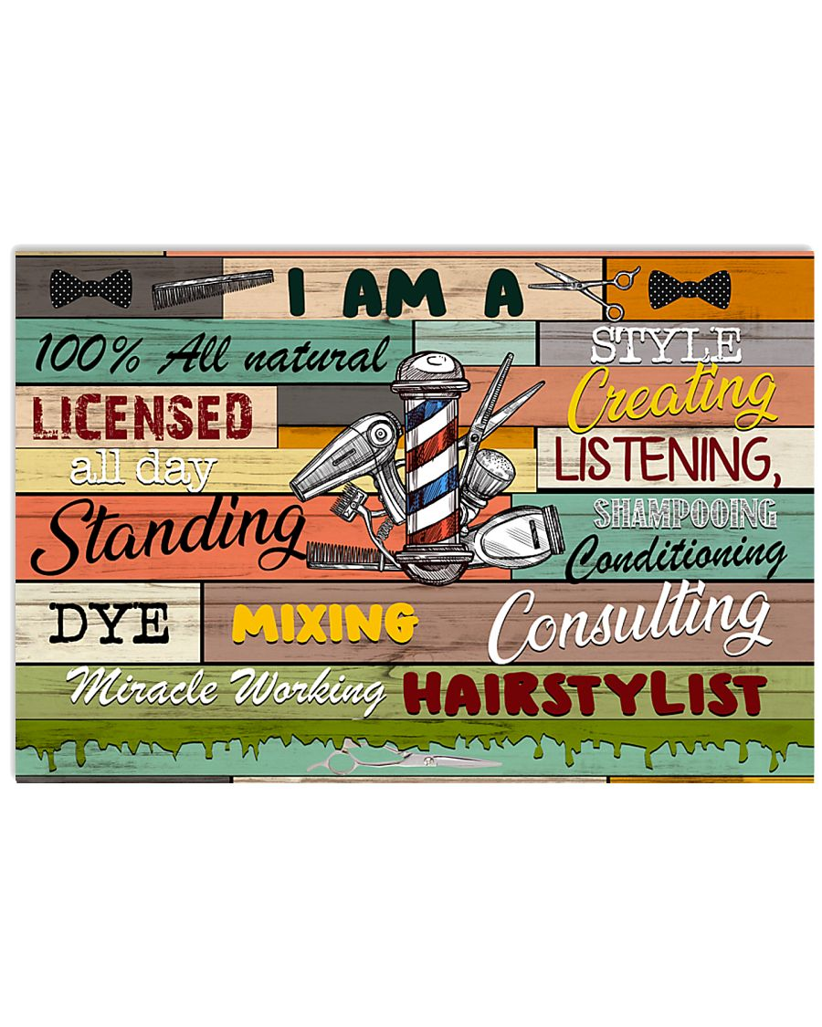 Miracle Working Hairstylist 17x11 Poster
