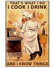 Chef I Cook I Drink And I Know Things 11x17 Poster front