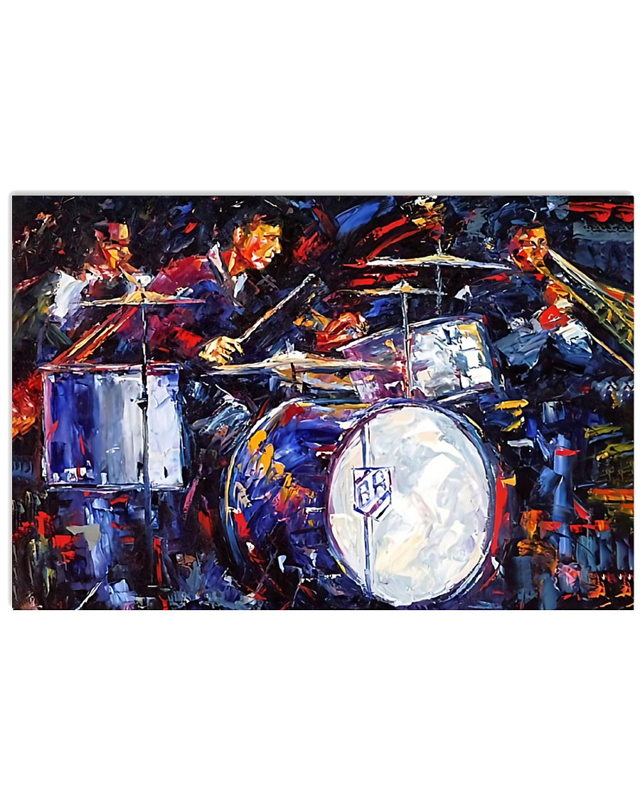 Drummer With Friends 17x11 Poster