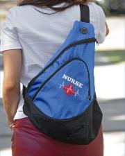 Nurse Heartbeat Slinging pack Sling Pack garment-embroidery-slingpack-lifestyle-01