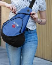 Nurse Heartbeat Slinging pack Sling Pack garment-embroidery-slingpack-lifestyle-02