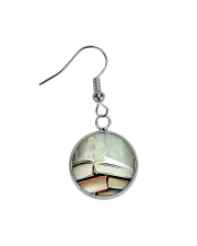 Librarian Love Reading Books Circle Earrings thumbnail