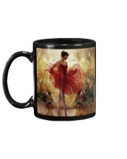 Pretty Ballet Dancer With The Red Dress Art Mug back