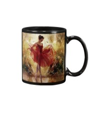 Pretty Ballet Dancer With The Red Dress Art Mug front