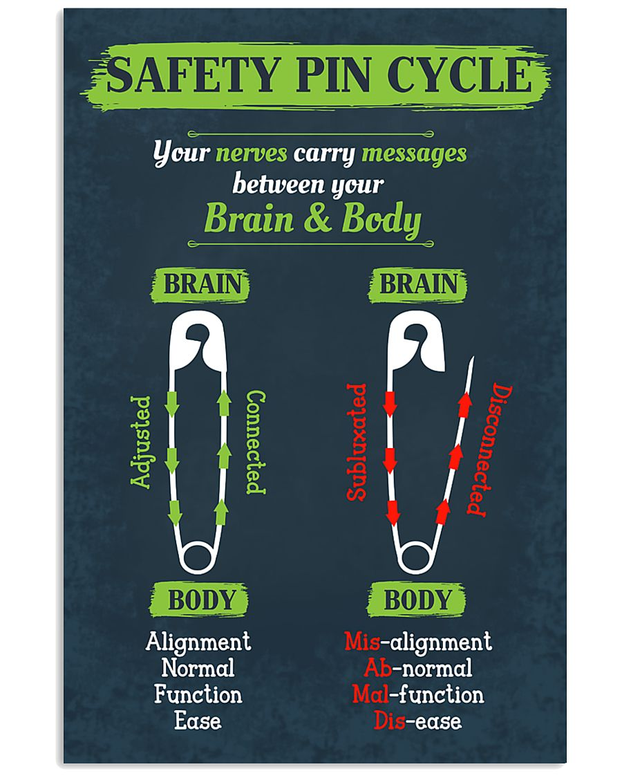 Chiropractor Safety Pin Cycle 16x24 Poster