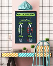 Chiropractor Safety Pin Cycle 16x24 Poster lifestyle-poster-6