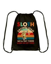 Sloth archery team Drawstring Bag thumbnail