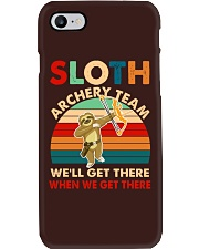 Sloth archery team Phone Case thumbnail