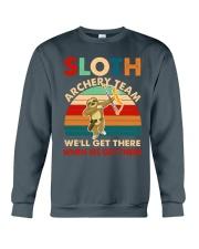 Sloth archery team Crewneck Sweatshirt thumbnail